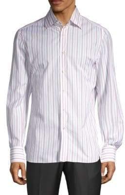 Isaia Striped Button-Down Shirt