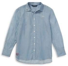 Ralph Lauren Childrenswear Boy's Embroidered Cotton Shirt