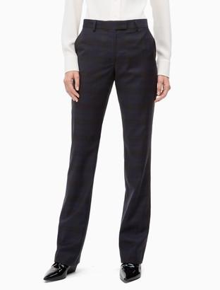 Calvin Klein Slim Fit Wool Check Pants