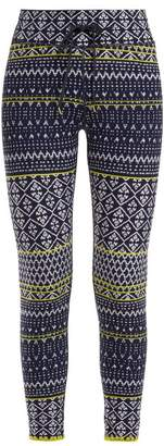 The Upside Ikat Print Leggings - Womens - Blue Print