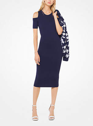 Michael Kors Stretch-Viscose Peekaboo Midi Dress