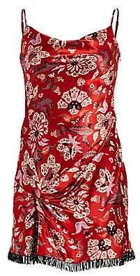 Cinq à Sept Women's Avalyn Floral Silk Mini Dress