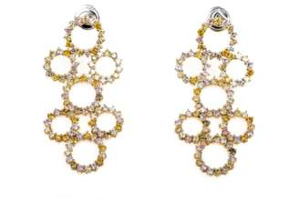 Damiani 18k Rose, Yellow & White Gold & Diamonds Earrings