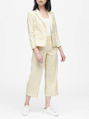 Banana Republic Petite Tailored-Fit Linen Cotton Blazer