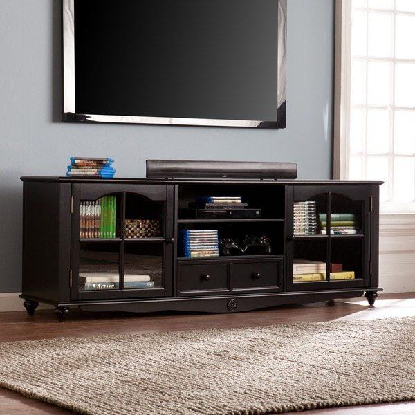 """Harper Blvd Christoval 69"""" TV Console - Antique Black"""