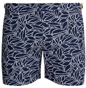 Orlebar Brown Bulldog X Alaria Abstract Jacquard Swimshorts - Mens - Navy