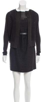 Akris Wool Perforated Dress Suit