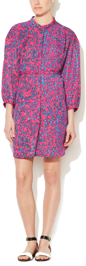 See by Chloe Printed Front Button Shirtdress