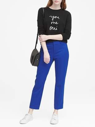 Banana Republic Avery Straight-Fit Washable Ankle Pant