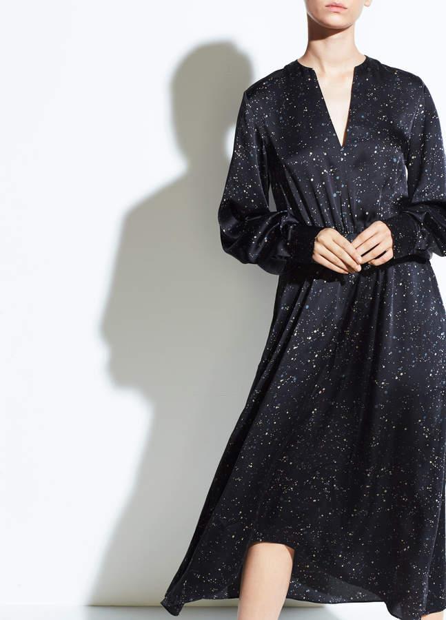 Constellation Print Poet Dress