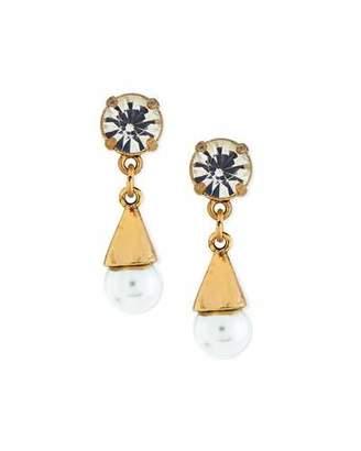 Lulu Frost Lustre Glass-Pearl Earrings $165 thestylecure.com