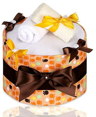 T-TOMI Diaper Cake, Large, Orange Paws