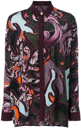 Versace Baroccoflage print shirt