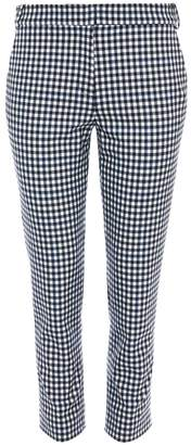 Tibi Gingham Beatle Cropped Pants in Gingham Multi
