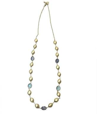 "Mela Artisans Blue, Aqua & Gold Necklace ""Pixie"""