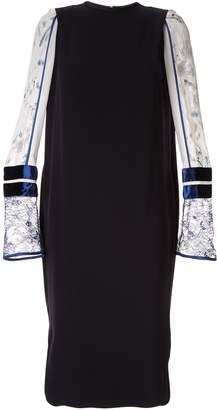 Mame Kurogouchi lace cuff shift dress