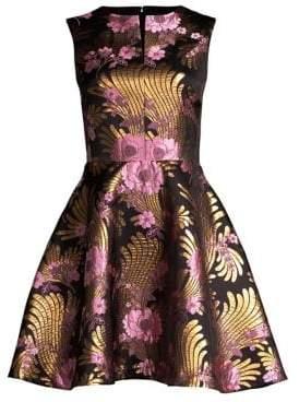 Josie Natori Sleeveless Fit-&-Flare Cocktail Dress