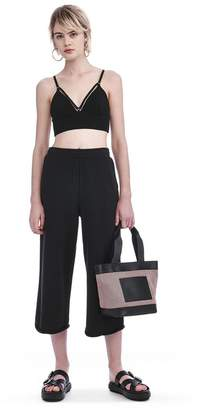 Alexander Wang FRENCH TERRY CROPPED WIDE LEG SWEATPANTS PANTS