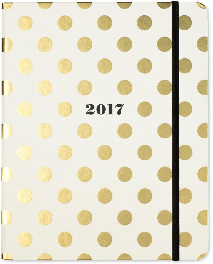 kate spade new york Gold Dot Large Concealed Spiral Agenda