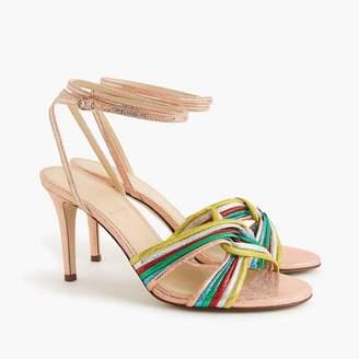 J.Crew Rainbow strappy heels (90mm)