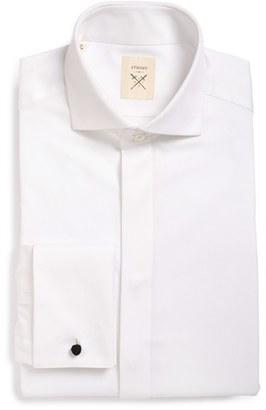 Men's Strong Suit 'Pique' Trim Fit Tuxedo Shirt $98 thestylecure.com