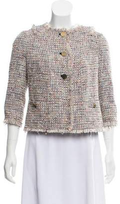 Tory Burch Textured Fringe Blazer