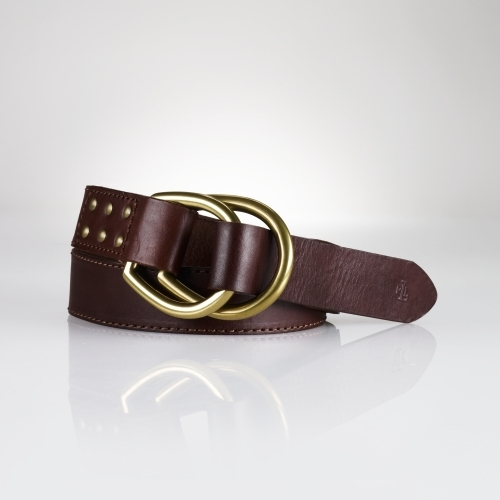 Ralph Lauren Leather Studded Belt