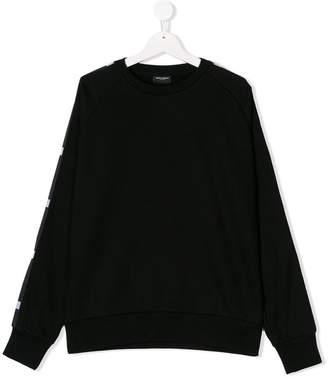 Marcelo Burlon County of Milan Kids TEEN logo stripe sweatshirt