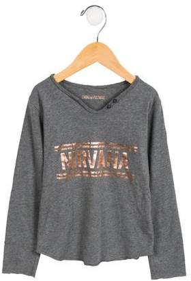 Zadig & Voltaire Girls' Glitter Nirvana Top