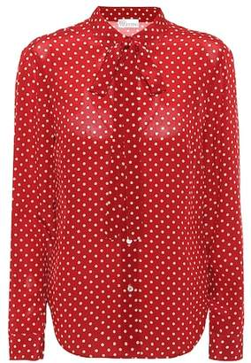 RED Valentino Polka-dot silk blouse