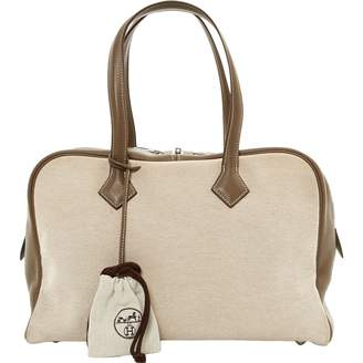 Hermes Victoria handbag, in canvas.
