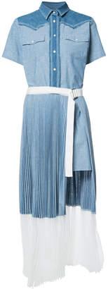 Sacai short-sleeve shirt dress