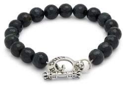 Blue Tiger Eye & Sterling Silver Bracelet $200 thestylecure.com