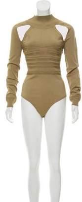 Cushnie et Ochs Long Sleeve Cutout Bodysuit