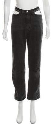 Rachel Comey High-Rise Cutout-Accented Jeans