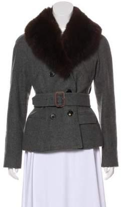 Ralph Lauren Purple Label Cashmere Belted Coat Grey Cashmere Belted Coat