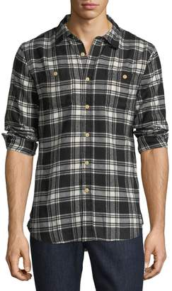 Jachs Ny Plaid Flannel Work Shirt, Black