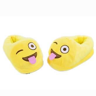 27e8a698a5e2 Mtzyoa Home Slippers Emoji Cartoon Plush Cute Indoor Unisex Teens Adult  House Shoe