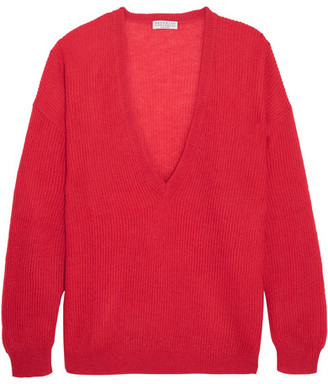 Brunello Cucinelli - Knitted Sweater - Papaya $975 thestylecure.com