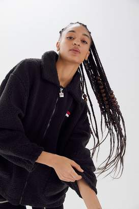 Fila UO Exclusive Diana Zip-Front Teddy Jacket