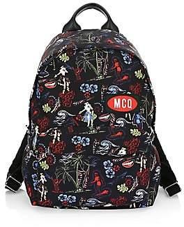 McQ Men's Floral Logo Patch Backpack