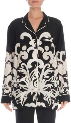 Valentino Pajama Print Crepe Blouse