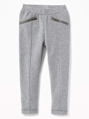 Old Navy Ponte-Knit Zip-Pocket Stevie Pants for Toddler Girls