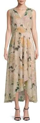 Calvin Klein Floral Hi-Lo Sleeveless Dress
