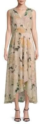 Calvin Klein Floral Hi-Lo Sleeveless Dress