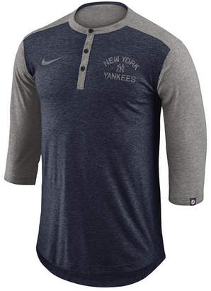 Nike Men's New York Yankees Dry Henley Top