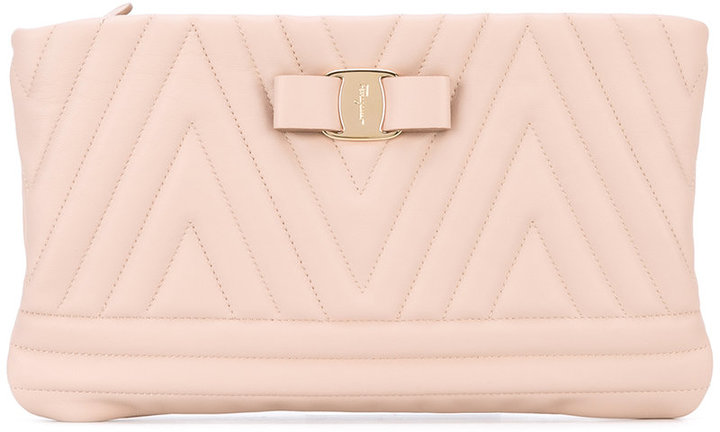 Salvatore Ferragamo Salvatore Ferragamo quilted Vara clutch bag