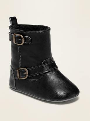 Old Navy Tall Faux-Leather Buckled Boots for Baby