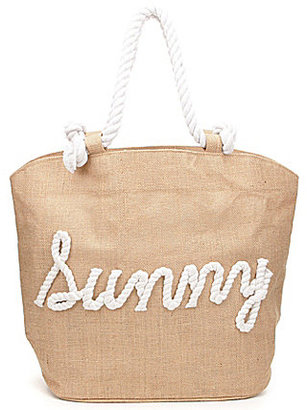 Mud Pie Rope Sunny Jute Tote $38 thestylecure.com