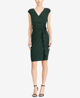 American Living Cap-Sleeve Ruffled Dress